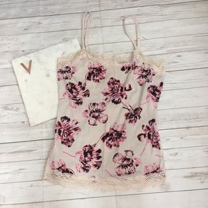 ann taylor womens s floral camisole lace trimmed t